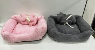 26 x Puppy Starter Kits & 55+ Puppy Towel Accessories - Pink/Grey