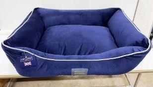 Hugo & Hudson L Suede Pet Bed - Blue - RRP£79.99