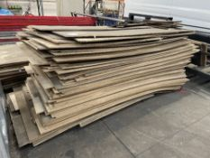 Approximately 100 x Assorted Multi-Purpose Chipboard Panels - see description for further details