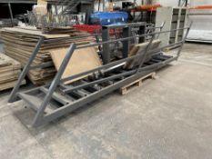 13 Tread Heavy Duty Mezzanine Floor Staircase w/ 3 x Guard Rails | Overall Height: 270cm