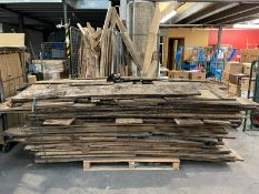 Large Quantity of Scrap/Spare Wood Stock as per pictures