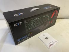 CiT Rampage Gaming Combo Set includes: Keyboard, Headset, Mouse & Mouse Mat
