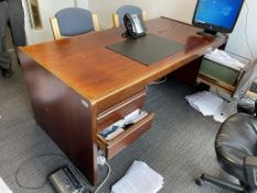 4 x Pieces of Dark Wood Effect Office Furniture as per pictures