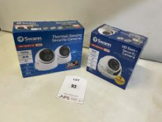 3 x Various Swann Pro-Series HD Security Cameras