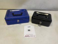 2 x Metal Safe Boxes w/ Keys