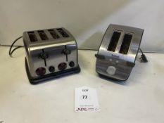 Stainless Steel 2 & 4 Slice Toasters