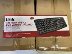 40 x Link LKTAST02 Italian USB Wired Keyboards
