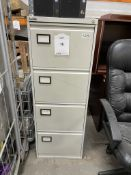 2 x 4 Drawer Metal Filing Cabinets