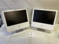 2 x Various Apple A1208/A1195 iMac All-in-One Computers