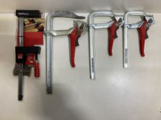 4 x Various Small Bessey Clamps | RRP £193