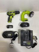Worx Professional WU127 12Volt Lithium-Ion Drill/Driver & WORX WU024 18V Cordless Worklight Set w/ B