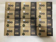 12 x Zoo Hardware - ZCS030SS Return To Door Lever On Round Rose