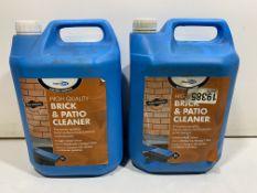 2 x Bond It BDH081 5 Litre Brick and Patio Cleaner Solution Fluid Acid Based Mortar
