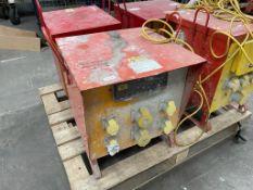 6 Socket 240v Portable Site Transformer Unit w/ Circuit Board