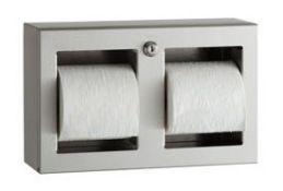 Bobrick B-3588 Double Toilet Roll Holder | RRP £216