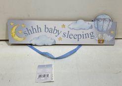 12 x Handing Door Sign | 'Shhh Baby Sleeping'
