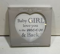 6 x Hanging Heart Plaques
