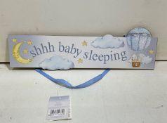 11 x Handing Door Sign | 'Shhh Baby Sleeping'