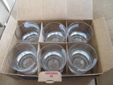 100 x Sets of Brand New and Sealed Heavy Base Whiskey Glasses   6 pcs