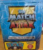 1000 x Topps Match Attax Football Facts Activity Tins