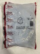 Approximately 5,000 x Talon TSB25 25mm Plastic Flexi Hinged Pipe Clips