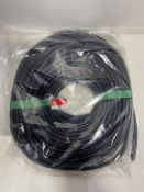 Approximately 25 x 20m Reels of RS Pro 619-1512 PVC Black Edge Protector Strip