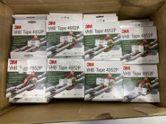 65 x Rolls of 3M VHB 4952P White Foam 19mm x 3m Tape