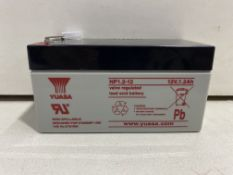 Approximately 720 x YUASA NP1.2-12 12v Valve Regulated Lead Acid Batteries