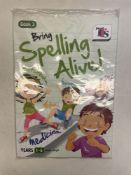 Approximately 50 x TTS Publishing PB00190 Years 1-6 'Bring Spelling Alive' Book 3 Textbooks