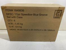 6 x Irwin 17 Piece Flat Spade Drill Bit Set 6mm to 38mm