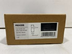 9 x Zoo Hardware - PR042EB Flat Lever On Latch Backplate   RRP £60.12