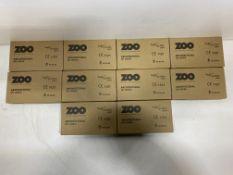 10 x Zoo Hardware - ZUKB64SS Bathroom Lock   Total RRP £164.70