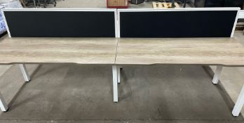 4 Station Desk w/Privacy Screen   Overall L: 280cm x W: 124cm