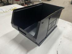 20 x RS Pro 909-6912 Plastic Tote Bins in Black | 182mm x 205mm