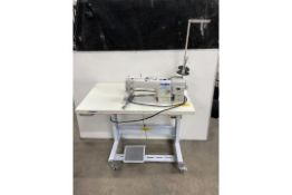 Juki DDL-900A-S Direct Drive Lockstitch Industrial Sewing Machine W/Stand & Table Top