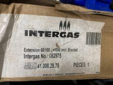 2 x Intergas Flue Extension 60/100 W/ Bracket | L=1000