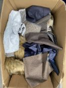 Large Quantity Of Used/Cut Fabric, Various Materials & Patterns As Seen In Photos