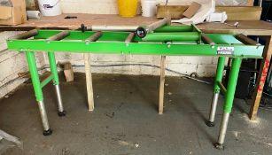 2 x Wadkin Bursgreen Roller Conveyors