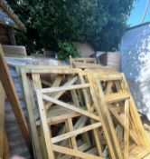 Quantity of WIP Wood Stock | Includes Gates & Fence Panels | As Pictured
