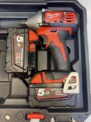 Milwaukee M18BIW12-0 M18 Compact Impact Wrench w/ 2 x Milwaukee Batteries