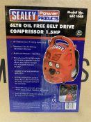 Sealey SAC106B 6 LTR Oil Free Belt Drive Compressor   RRP £165