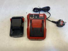 Senco VB0159 18v Li-Ion Fast Battery Charger & Senco VB0160EU 18v Battery Set