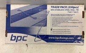 2 x BPC Housing Type 4 Wall Tie   250 per box