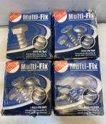 4 x Boxes Of TIMco MF6100 Multi-Fix Hex Flange Head Bolt 6 x 100 ( 100pcs Approximately )
