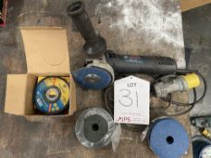 Bosch GWS 7-115 Professional Angle Grinder w/ Quantity of Spare Discs