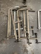 8 x Various 500mm G-Clamps