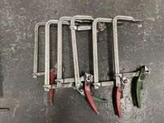 5 x Various 250mm G-Clamps