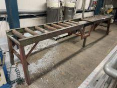 Metal Roller Conveyor Belt w/ Side Table | 460cm x 60cm
