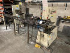 Geka Puma 55/E-500 Punching Machine w/ Gravity Roller Conveyor & Guide Rail