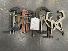 8 x Various G-Clamps/C-Clamps as Pictured